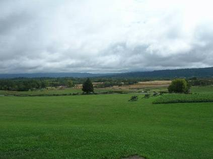 Recent photograph of the battlefield. Note the terrain. Photograph courtesy of Civil War Preservation Trust.