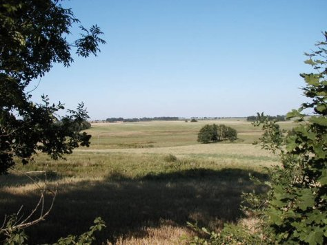 Looking across the battlefield towards the position of redoubt No 2. (Photograph by Jan Kowalik)