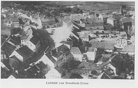 Arial view of Eylau taken in 1930