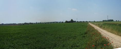 A. Panorama taken from just behind the Allied front line between Rumsdorp and Neerwinden. (See both modern and battlefield maps)