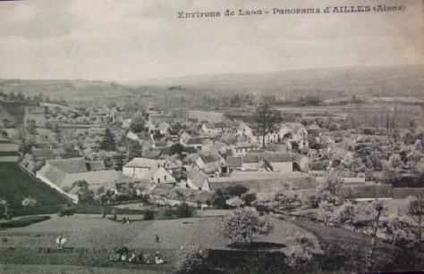 The Village of Ailles. Photograph taken before the First World War.