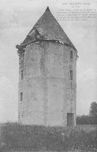 The mill of Craonne, now destroyed. Napoleon's observation post during the battle.