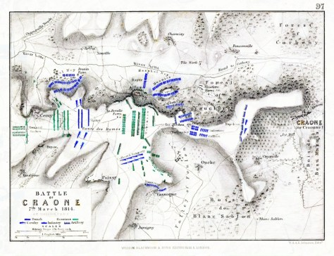 Troop dispositions during the battle. From: Atlas to Alison's history of Europe (1848).