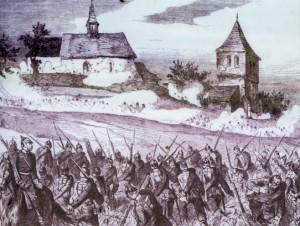 The fighting around Wenzelsberg church.