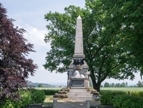 Nachod Monument to the Austrian 4th and 6th Cuirassier Regiments. (Dr Bob 2015)