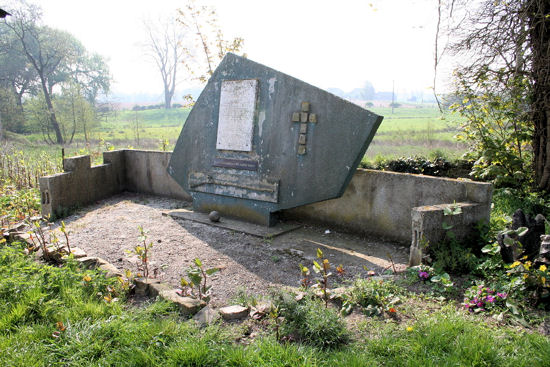 Monument erected in 1984 to the British regiments that fought at the battle of Malplaquet. Now in need of restoration. Contact this site for details.' Photograph taken by Mike Spence