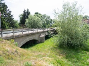 Part of one of the original bridges.