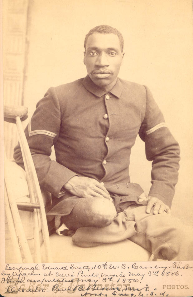 Corporal Edward Scott of the 10th U.S. Cavalry