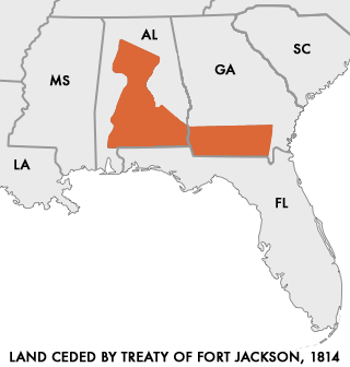 Lands Ceded by Creeks in the Treaty of Fort Jackson