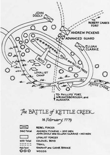 Battle of Kettle Creek Map