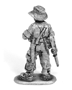 WW2 Australian infantryman unpainted casting back view