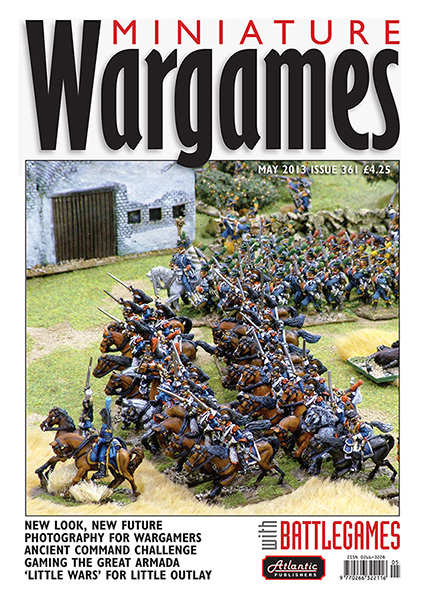 Miniature Wargames with Battlegames issue 361 front cover 600 pixels tall
