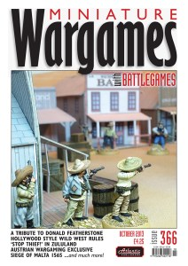 Miniature Wargames with Battlegames issue 366 front cover