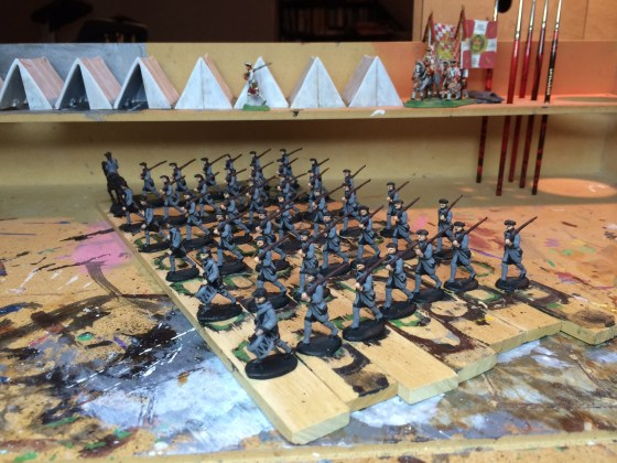 Regiment von Renscher on the painting table.
