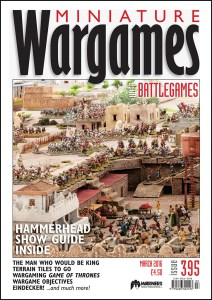 Miniature Wargames with Battlegames issue 395 front cover