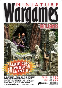 Miniature Wargames with Battlegames issue 396 front cover