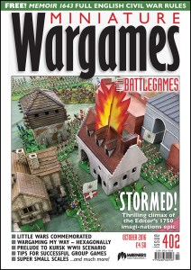 Miniature Wargames with Battlegames issue 402 front cover