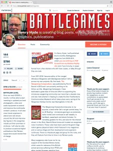 The Battlegames patreon website, sustained and driven by the sense of community.