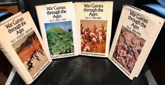 """Don Featherstone's """"War Games though the Ages"""" books."""