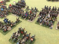 "Grimsby Wargames Society's Great Northern War 28mm game, ""The Lion, the bear and the Winged Hussar"""