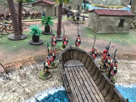A fictitious invasion of the Sugar islands. A 1/56 Muskets and Tomahawks game by Graham Cummings of Crann Tara Miniatures.