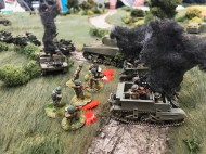 1st Corps staged a Normandy 1944 Chain of Command game in 28mm.