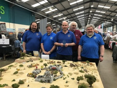 """Peterborough Wargames Club won Best Participation Game with their """"Men Who Would Be King"""" game."""