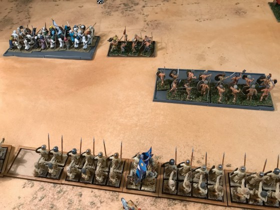 Tartanos' right flank collapses