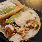 chicken taco served at The Battleground Mexican restaurant