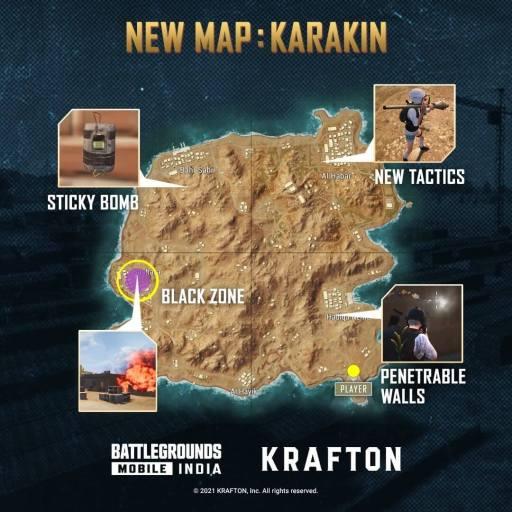 new map karakin - Battlegrounds Mobile India 1.5 Update