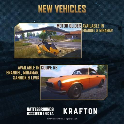 new vehicle - Battlegrounds Mobile India 1.5 Update