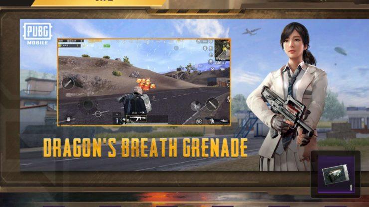 Dragon's Breathe Grenade - BGMI 1.6 Update