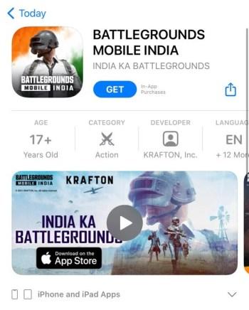 BGMI App Store
