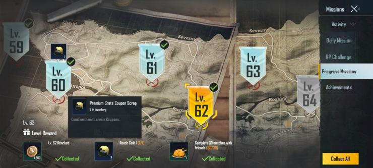 Progress missions