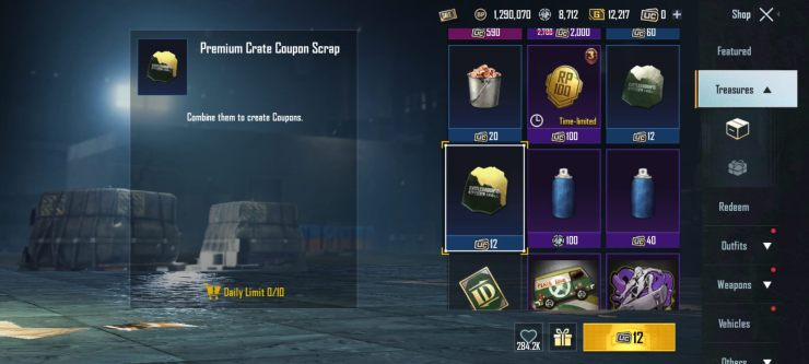 Treasure - How to Get Premium Crate Coupons in BGMI