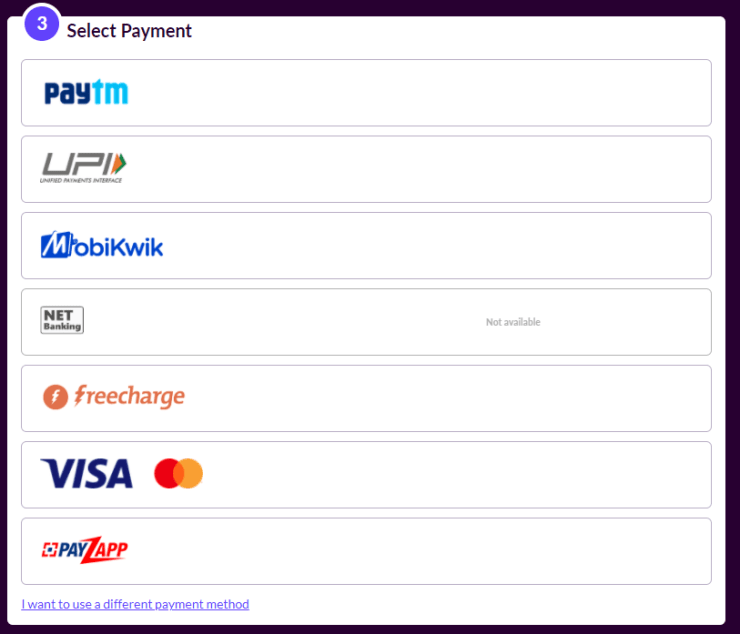 Select Payment - How to Buy UC for BGMI Using Codashop