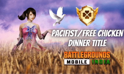 How to Get Pacifist/Free Chicken Dinner Title in BGMI