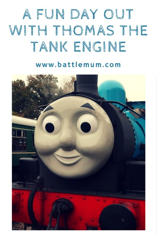 a fun day out with Thomas the tank engine - pinterest graphic