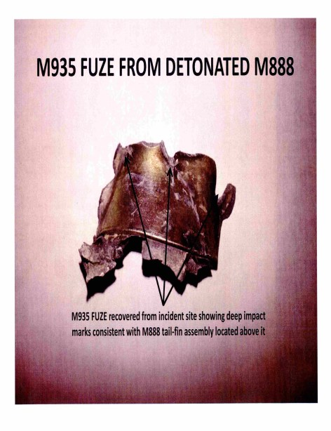 This mangled mortar fuze shows the intensity of the deadly explosion. Via Navy Expeditionary Combat Command.