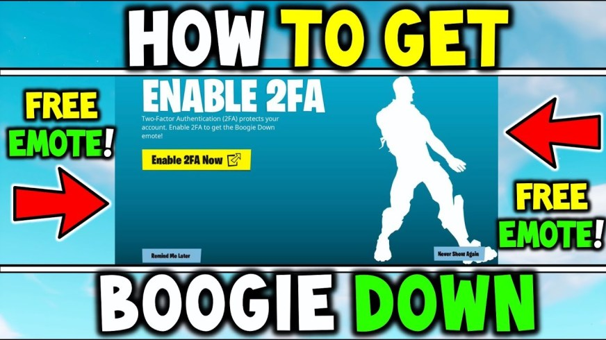 How To Get / Claim the BOOGIE DOWN EMOTE for FREE ...