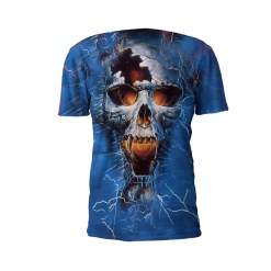 Front View Of The Punisher Performance Tee Shirt by Battle Tek Athletics—The Perfect Performance Tee Shirt For Athletic Training, MMA And Grappling Sports