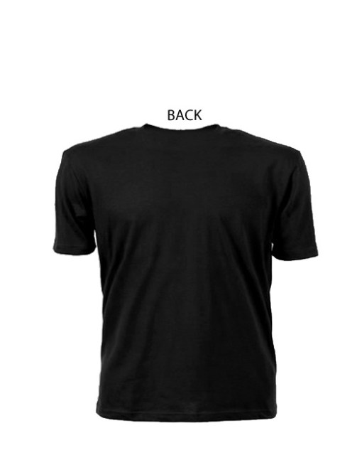 Comfortable Ringspun Wrestling Mom Black Tee With White Lettering Back View | Ideal Tee Shirt For Supporting Son/Daughter Wrestler