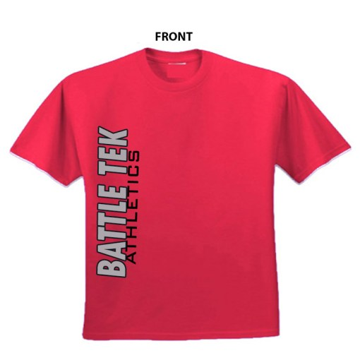Battle Athletics Simple Red Side Print performance tee.