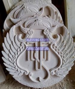 Ornamen Batu Paras Logo Keraton Yogyakarta