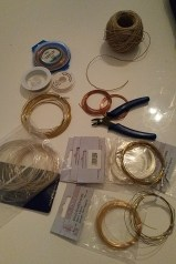 Crimping tool and beading supplies obtained via Craigslist