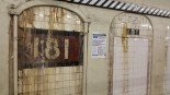 181st Street Station with Poster