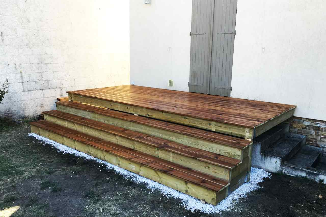 Construction terrasse bois exterieur for Amenagement exterieur bois
