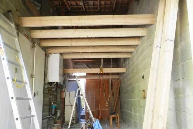 aménagement combles au dessus d'un garage