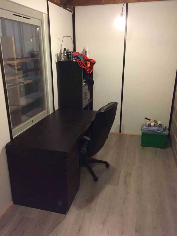 Aménagement intérieur création d'un bureau