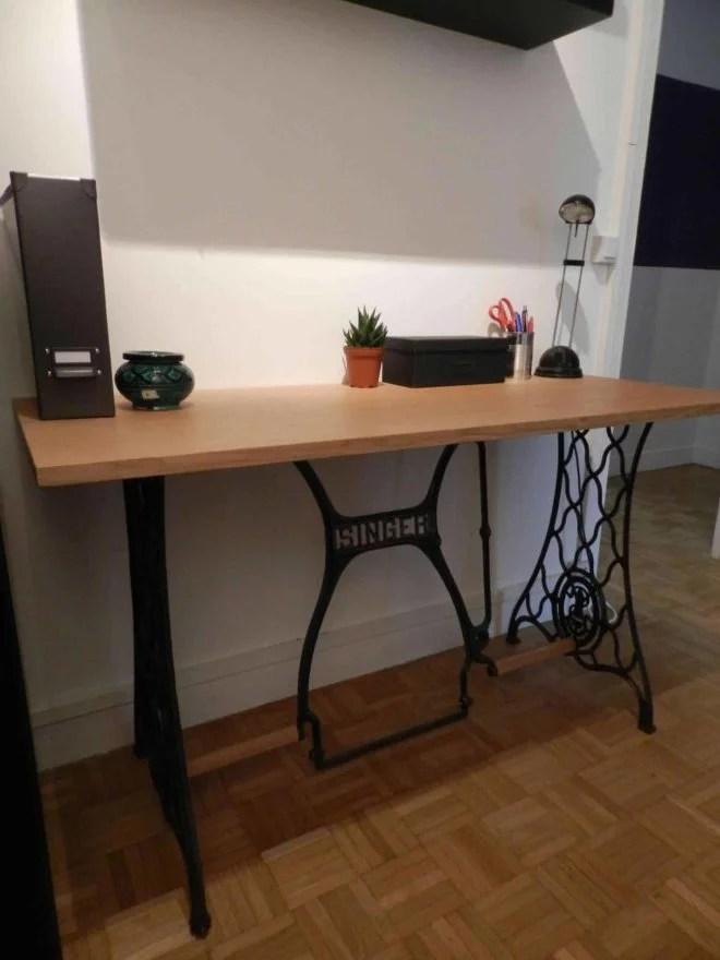 meuble en bois sur mesure singer DIY artisan 91